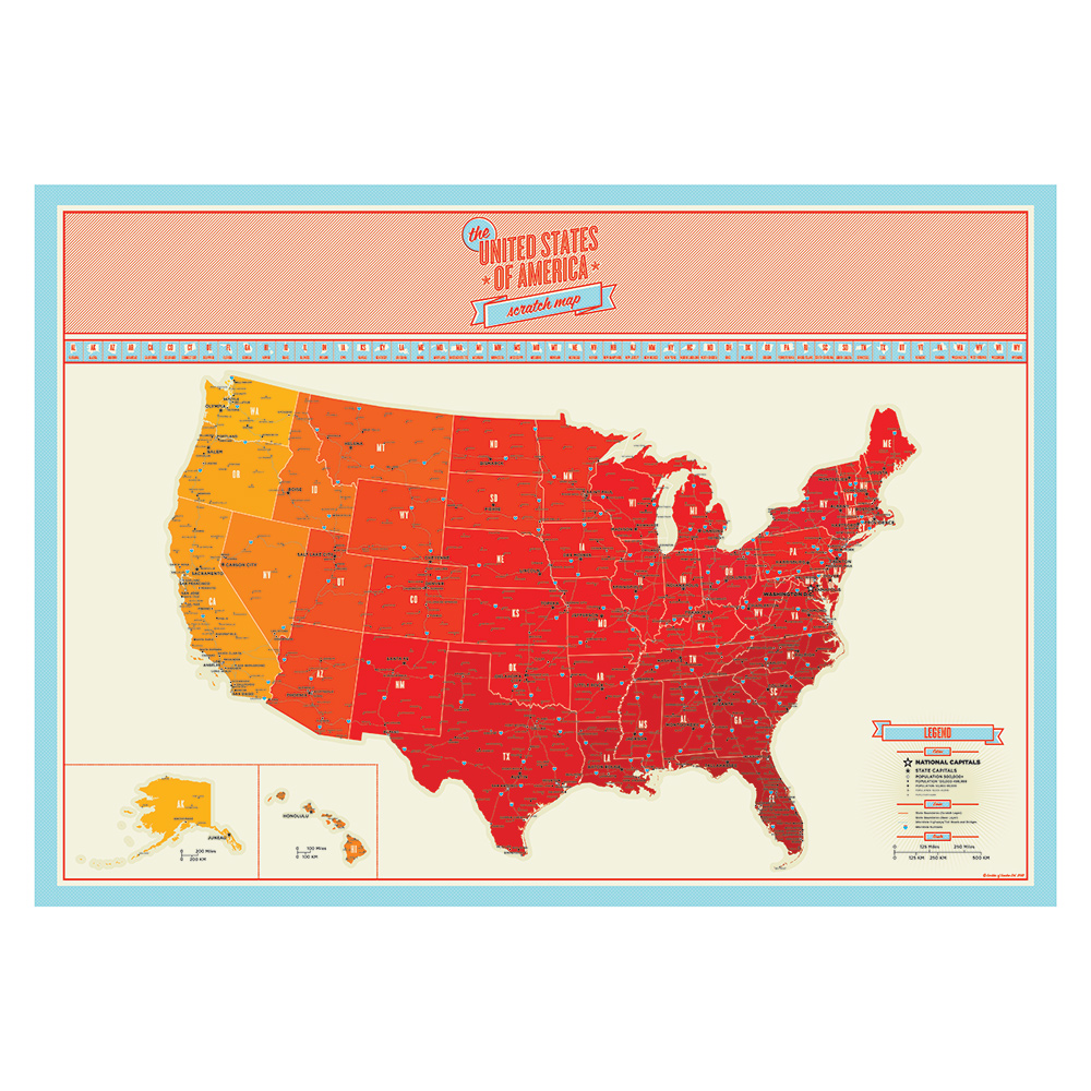 Scratch Map USA – Luckies Of London Scratch Map Travel Edition
