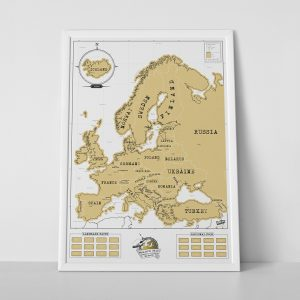 Scratch Map Europe by Luckies of London