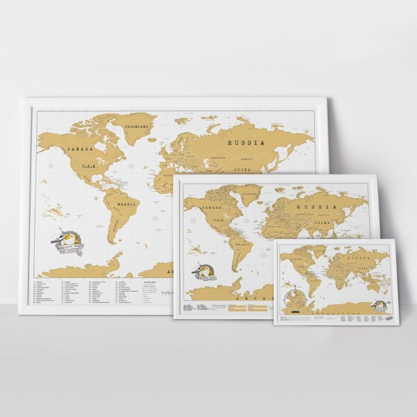 Scratch Map XL by Luckies
