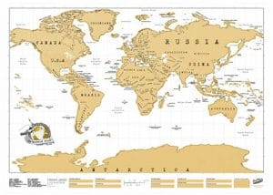 personalized world map poster