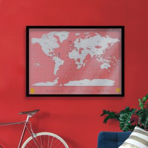 Framed Scratch Map Clear Edition by Luckies of London