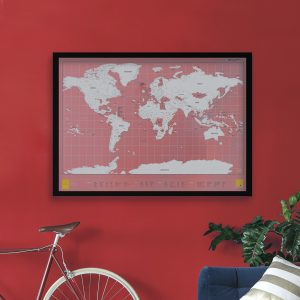 Scratch Map Clear by Luckies of London