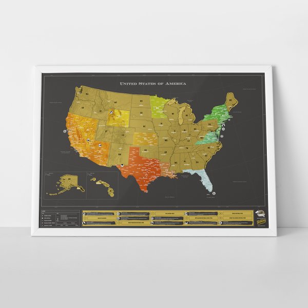 Scratch Map USA Deluxe by Luckies of London