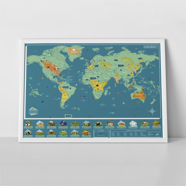Scratch Map Wild World by Luckies of London