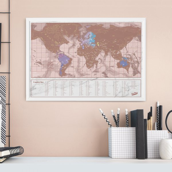Scratch Map Rose Gold Travel Edition by Luckies of London