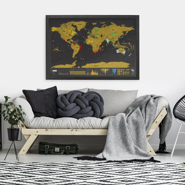 Scratch Map Deluxe XL by Luckies of London