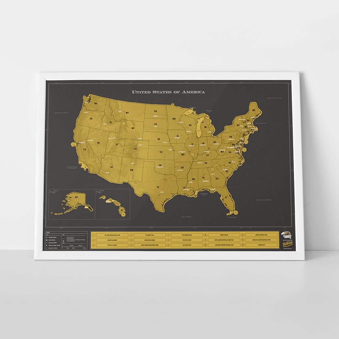 Scratch Map™ USA Deluxe
