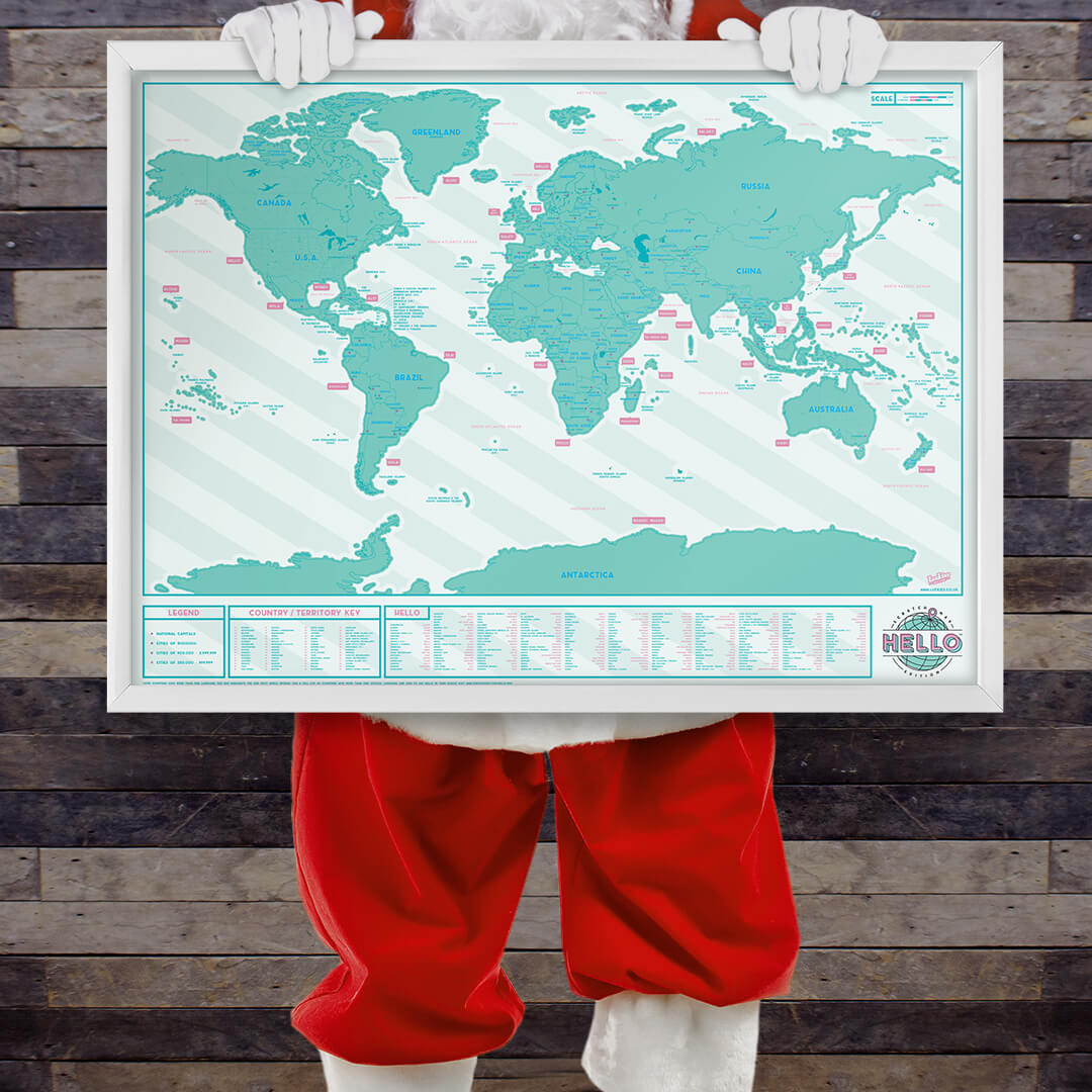 Santa Claus and their map